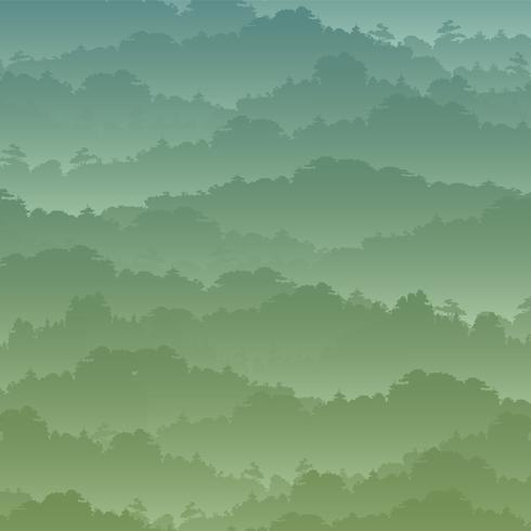 Vektor nahtloser Hintergrund. Grüne Berglandschaft im Sommer.