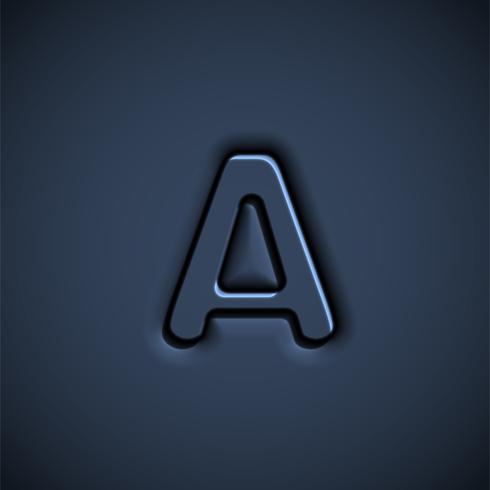 Tryckt teckensnitt tecken, vektor illustration