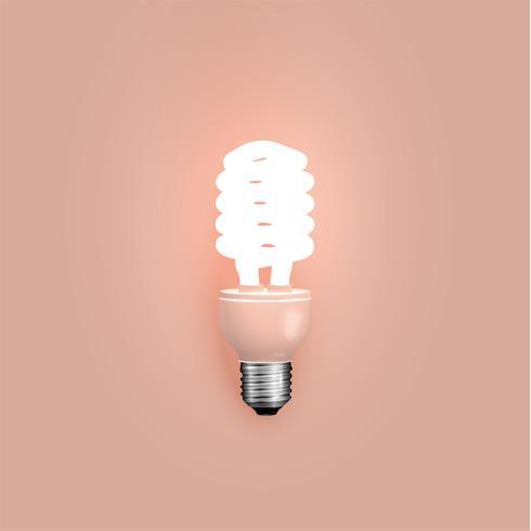 Energibesparande lampa, vektor illustration