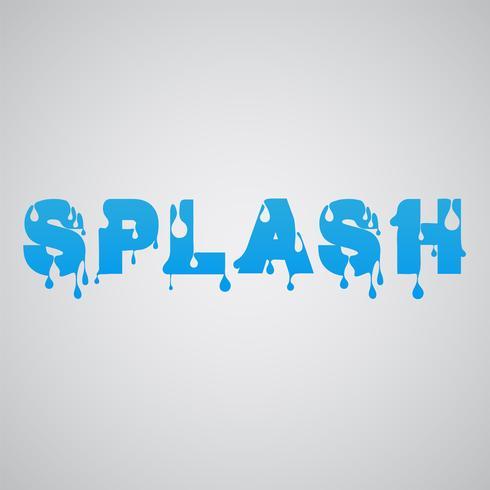 """""""Splash"""" gjord av flödesfont, vektor"""