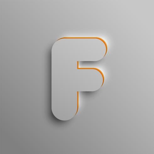 Realistisk 3D-teckensnitt, vektor