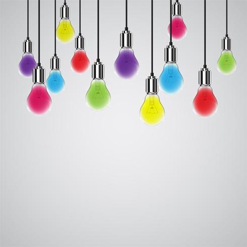 Realistische Glühbirne, Vektor-Illustration vektor