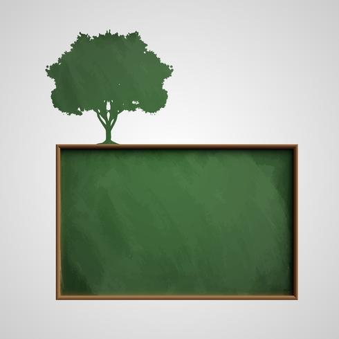 Tafel mit einem Baum, Vektor