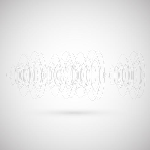 Cirklar på grå bakgrund, vektor