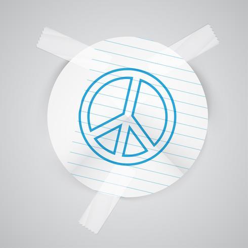"""Ein """"Frieden"""" von Papier, Vektor"""