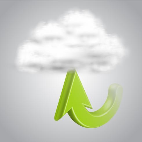 Ladda upp till moln, vektor