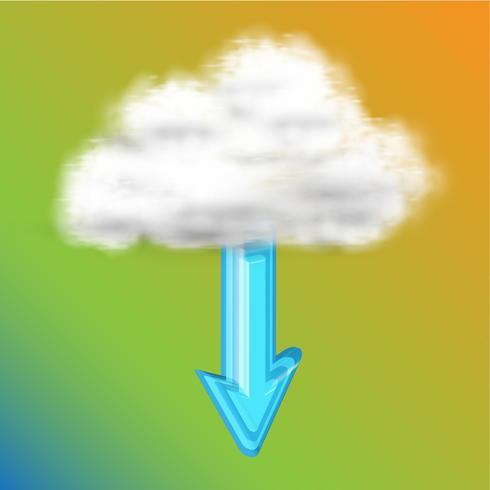 Hämta från moln, vektor