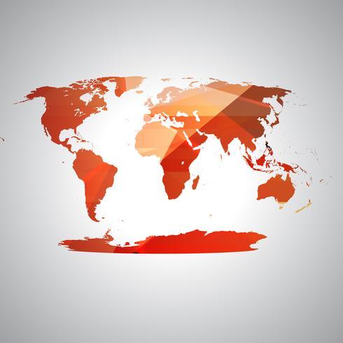 Färgglada världskarta, vektor
