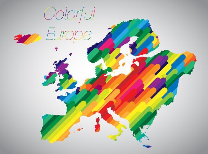 Färgglada vektor Europa