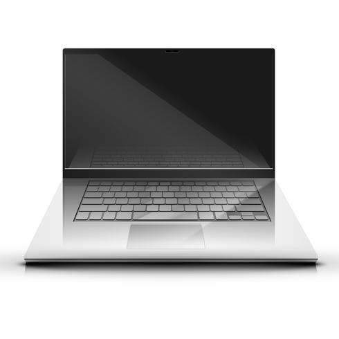 En bärbar dator skärm visar vektor illsutration