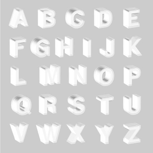 3D weiße Schrift vektor