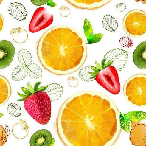 Nahtlose Mustermischung der Vektorfrucht vektor