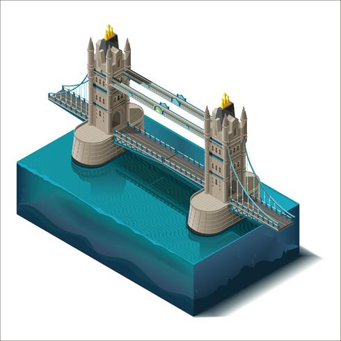 Konzept 3d. Tower Bridge Rd, London vektor