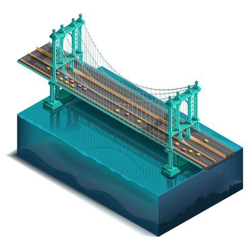 Manhattan-Brücke, New York, NY vektor