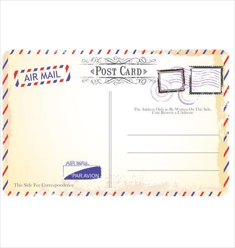 Postkartenvektor in der Luftpostart vektor