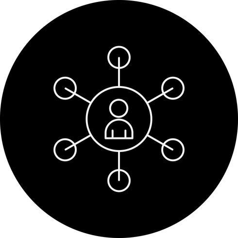 Vektor-SEO-Benutzer-Symbol vektor