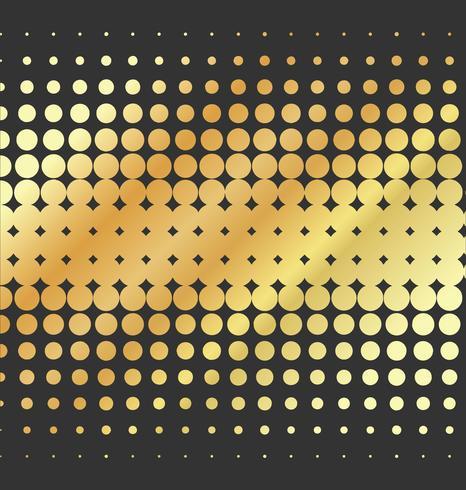 Abstrakt prickad vektor gyllene bakgrund halvton effekt