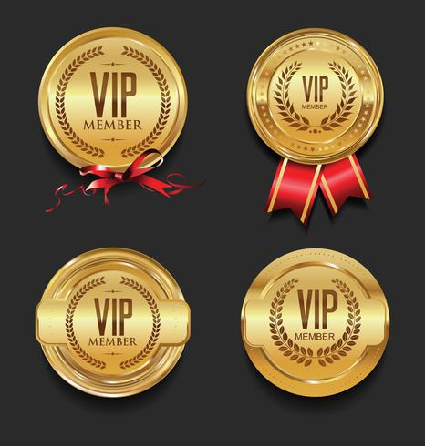 VIP-Labelsammlung vektor