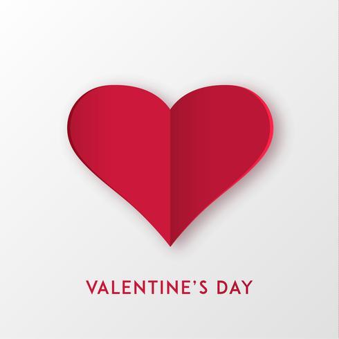 Liebesherz für Valentinstag oder andere Liebeseinladungskarten. Vektor