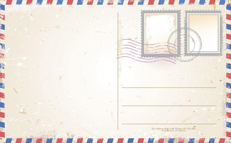 Postkarte Retro-Design vektor
