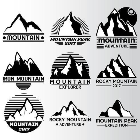 Mountain Label Designvorlage vektor