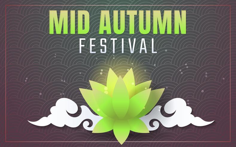Mid Autumn Festival Vector Hintergrund