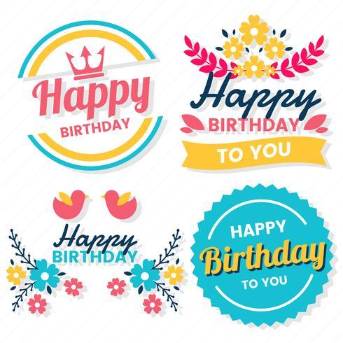 Grattis på födelsedagen Vector Logo för banner