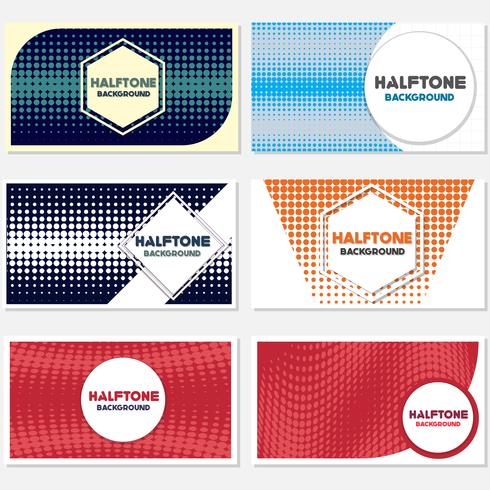 Vintage Halbton Stil Hintergrund Design-Vorlage vektor