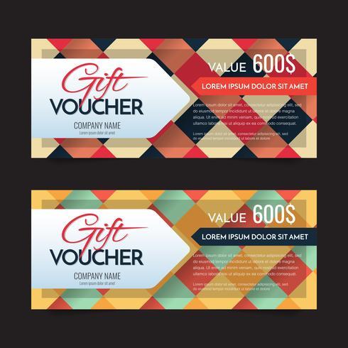 Geschenkgutschein Vektor Hintergrund für Banner