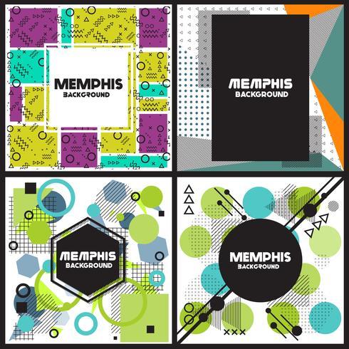 Memphis-Hintergrund-Stil Design-Vorlage vektor