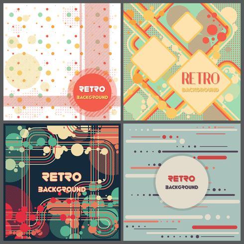Gammal retro vintage stil design mall vektor