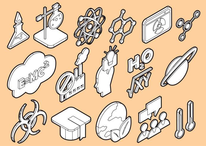 illustration av info grafik vetenskap ikoner uppsättning koncept vektor