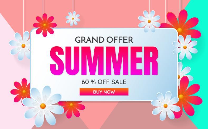 sommarförsäljning mall banner vektor bakgrund
