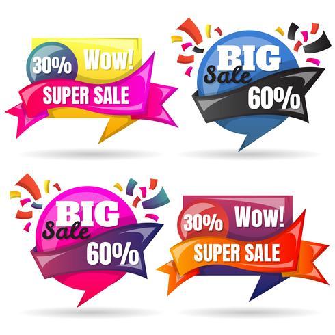 Försäljning Banner Design Mall vektor