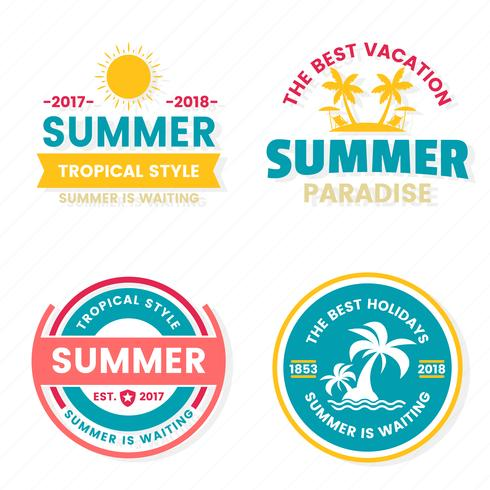 Sommer-Retro- Vektor-Logo für Fahne vektor