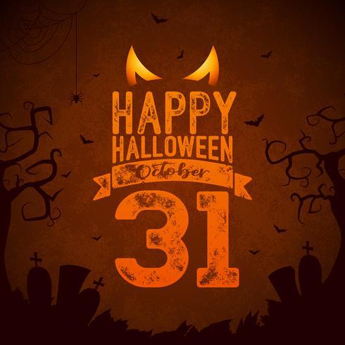 Lycklig Halloween banner illustration vektor