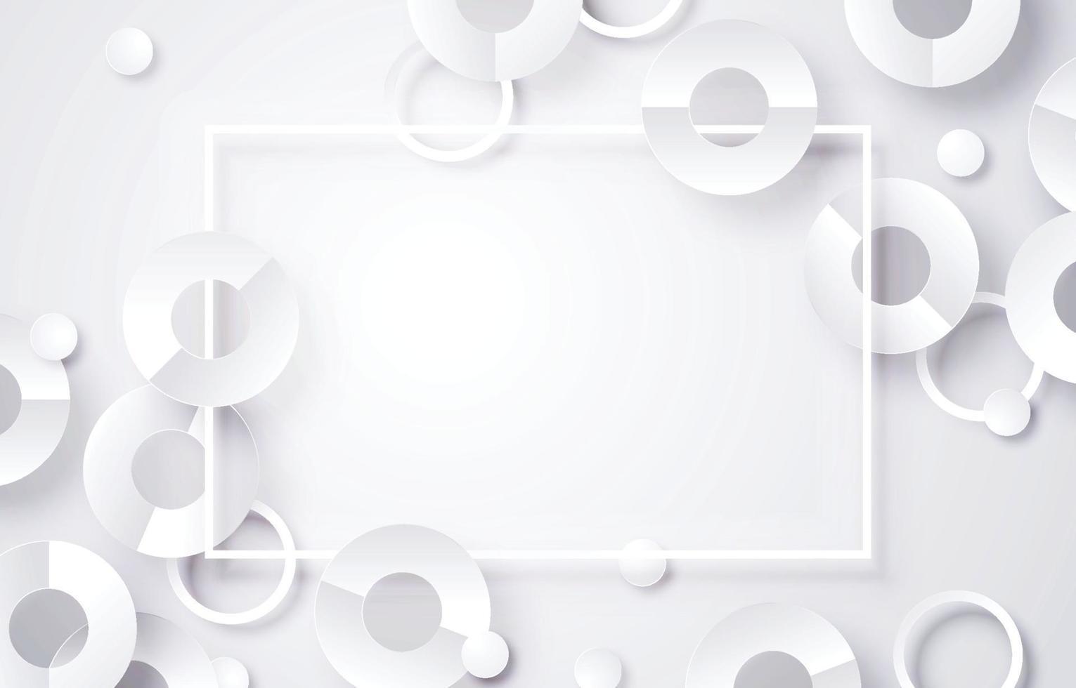 abstrakt vit ram bakgrund vektor