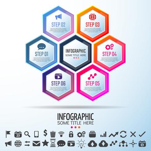 Infografiken-Designvorlage vektor
