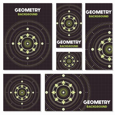 Alte Retro- Geometrie Weinlesearthintergrund Design-Schablone vektor