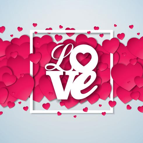 Kärlek Alla hjärtans dag illustration vektor