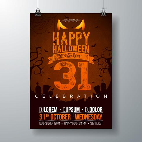 Halloween Party flyer vektor illustration