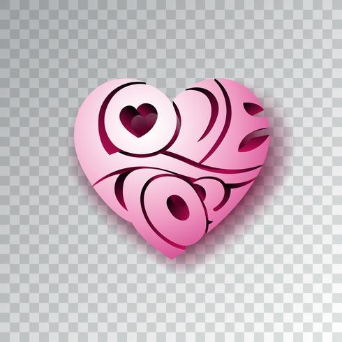 Alla hjärtans dag bakgrund med kärlek Du hjärta vektor