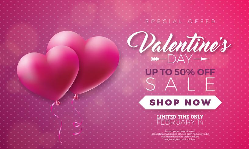 Valentinsdagförsäljning illustration vektor