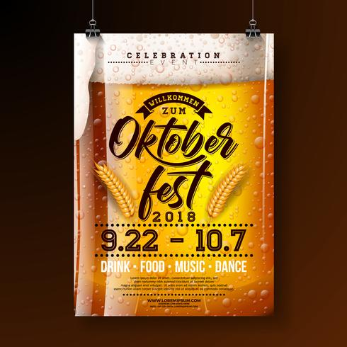 Oktoberfest party affisch illustration vektor