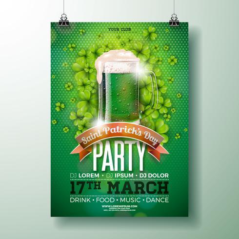 St Patrick's Day Party Flyer vektor