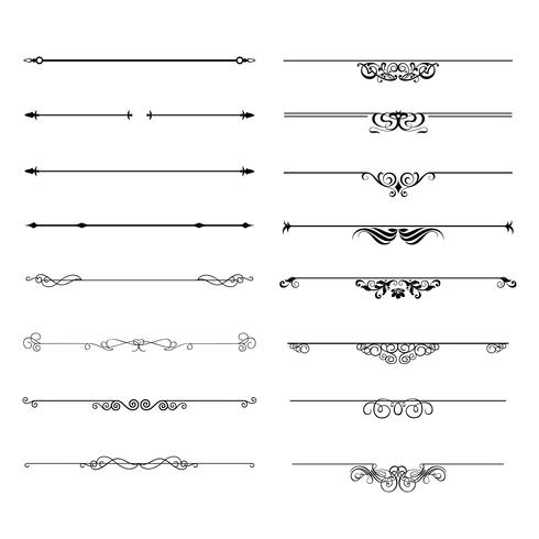 Flourishes kalligraphische Ornamente und Rahmen. vektor