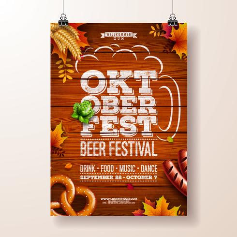 Oktoberfest affisch vektor illustration