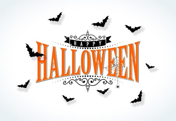 Glückliche Halloween-Vektorillustration vektor