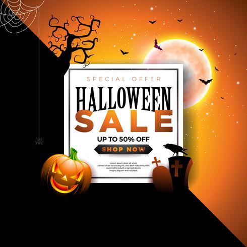 Halloween-Verkaufsfahnenabbildung vektor