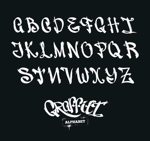 Graffiti Alfabet vektor